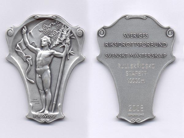 SM-silver i stafett, Varberg 2008.