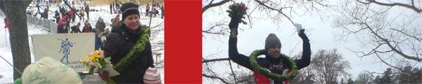 Vikingarännet 15 feb 2009, segrarna. Mobilkamerafoton: Ulf Haase.