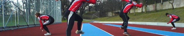 Barmarksträning 2009-04-14. Mobilkamerafoto: Ulf Haase.