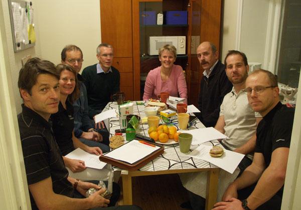 Styrelsemöte 2009-11-09. Foto: Ulf Haase (självutlösare).