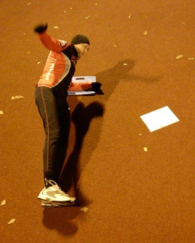 Barmarksträning 2010-10-26. Mobilkamerafoto: Ulf Haase.