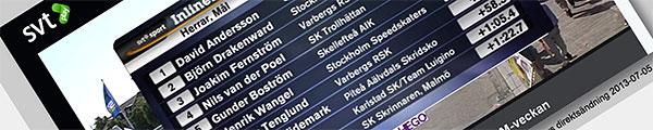 SM 10 000 m, skärmdump från SVT-Play 2013-07-05