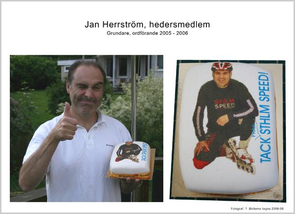 Hedersmedlem Jan Herrström. Foto: okänd 2006-06.